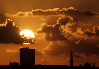 Sunset over Copenhagen