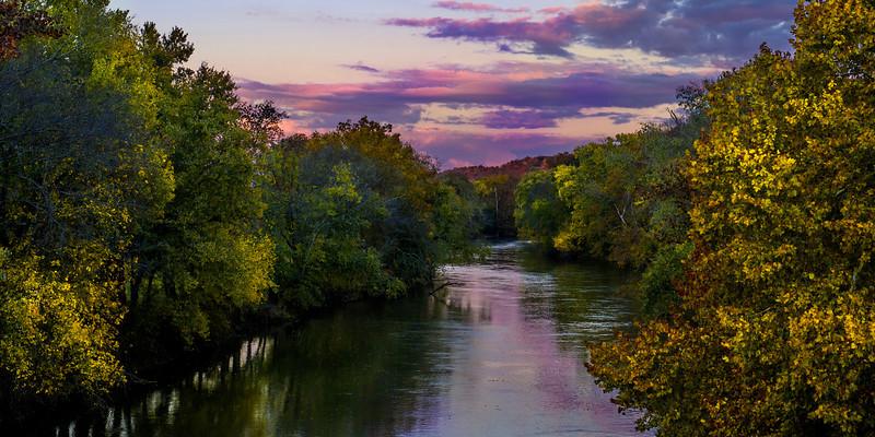 Sunset on the Elk River, Saturday 2 November 2013