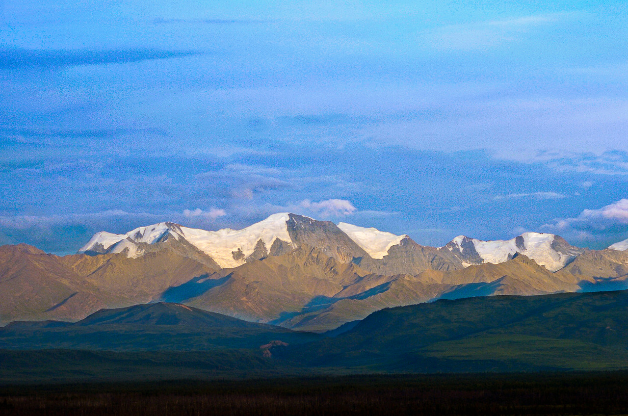 Alaska Range near Delta Junction, Alaska. Taken with an old D2h, a camera which always made me think I was shooting color slide film.