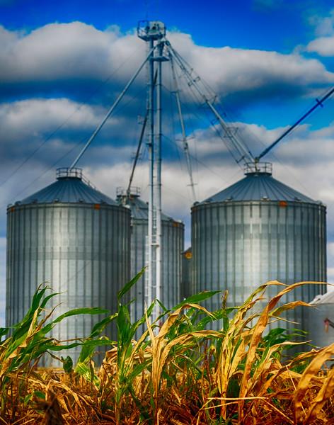 Grain Silos in Etheridge Tennessee