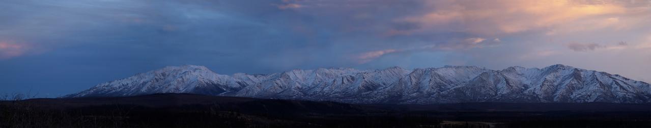 Granite Mountains, near Delta Junction, Alaska; Panorama of 6 shots