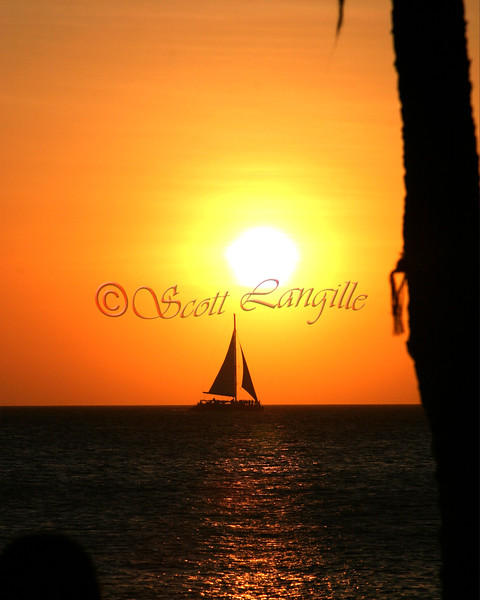 Aruba. Some of the most beautiful sunsets can be seen here.