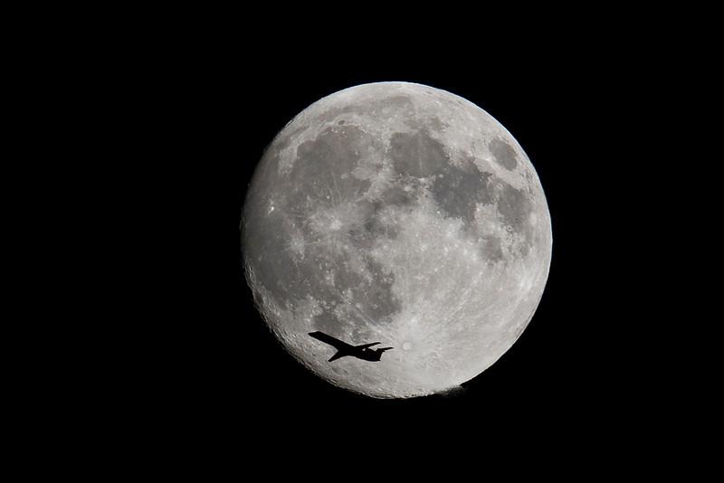 Variation on my moon / plane image.