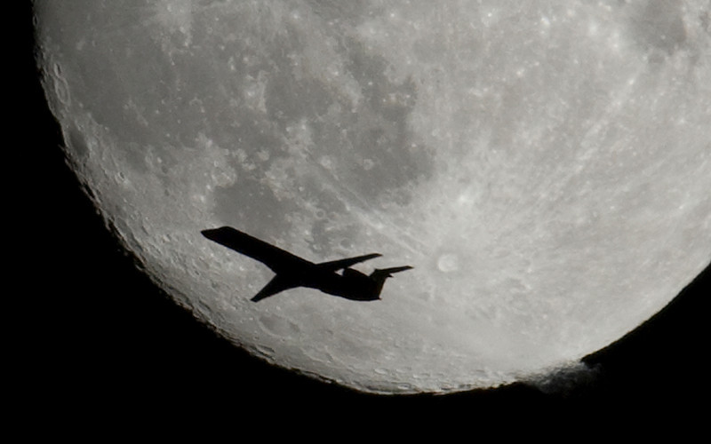 Variation on my moon / plane image.