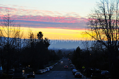 Following the color in the sky. I got lost again in some San Jose neighborhood.