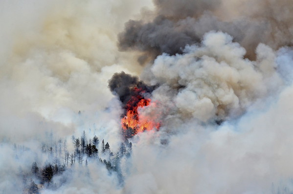 Closeup of flagstaff fire 2012