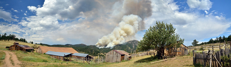 Flagstaff fire from Walker Ranch - 2012