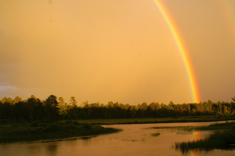 Rainbow over AuTrain River