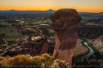 "Smith Rock after sunset, Oregon "" USA """