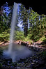 A Look from Behind Ponytail Falls - Columbia River Gorge