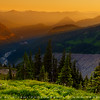 Mount Rainier NP during sunset, Washington, USA
