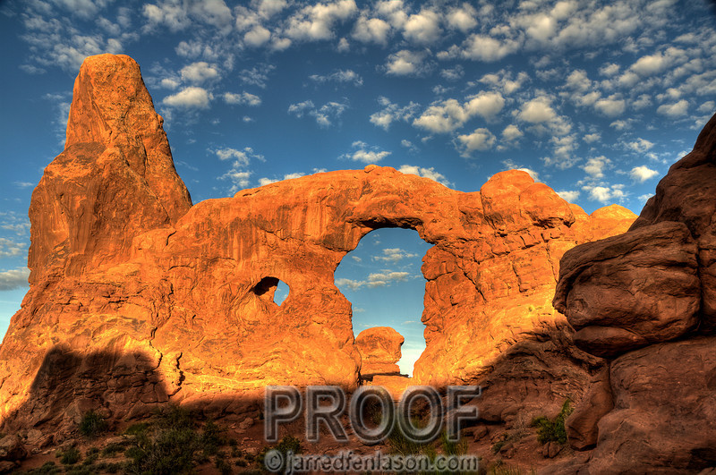 Turret Arch at Sunrise - Arches National Park