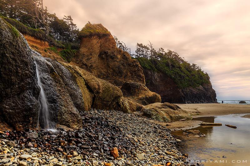 Hug point little falls, Oregon Coast, USA