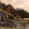 Hug point little falls, Oregon Coast, USA