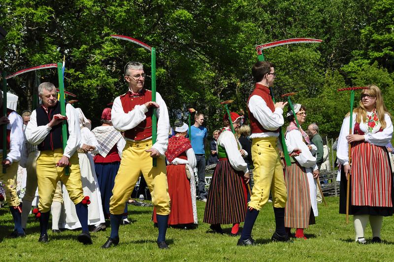 Midsummer in Sweden. Harvest dance.
