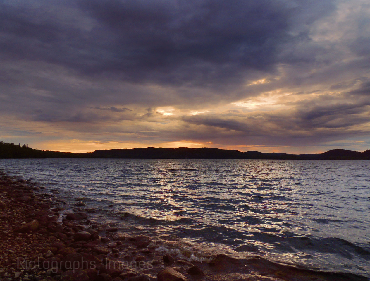 Hayes Lake, Cloudy Day, Rictographs Images