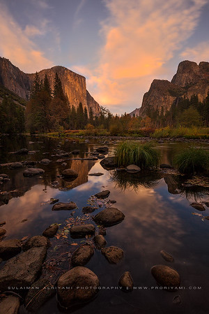 Morning glow over Yosemite valley