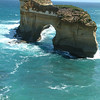 Natural Rock Formation off The Great Ocean Road Australia