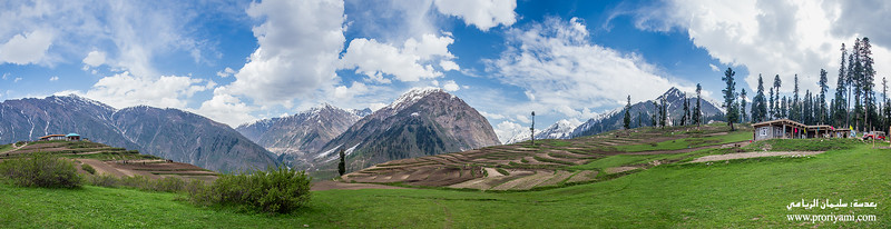 "Pano of Lalazar, kaghan valley ""Pakistan""."