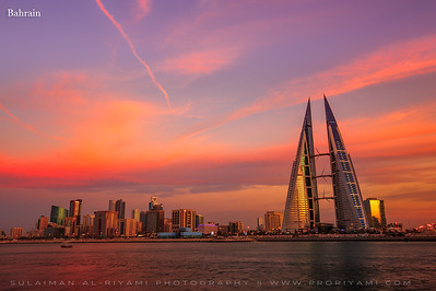 Kingdom of Bahrain during sunset