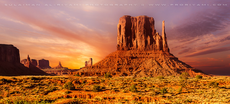 Monument Valley at down, Utah, USA