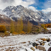 "fresh snowfall at Ghizer valley ""Pakistan""."