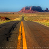 Road to Monument valley, Southwest desert (Utah), USA