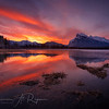 Sunrise over Vermillion lakes