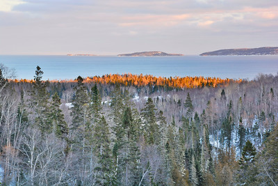 The Aguasabon River, Scenic Lookout, Lake Superior, Terrace Bay, Ontario, Canada Found Just Off Of Trans Canada Highway Seventeen,