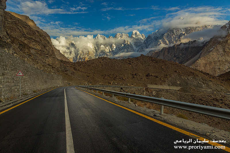 "Passu from KKH towords China, upper Hunza ""Pakistan""."