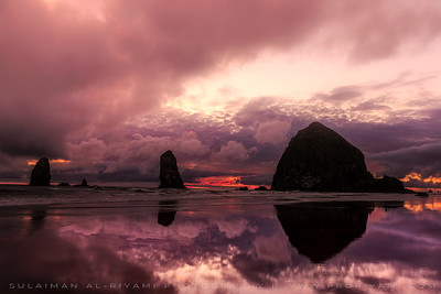 Cannon Beach sunset, Oregon Coast, USA