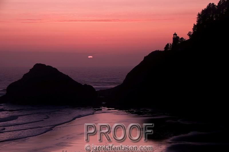 Just as the Sun Sets - Oregon Coast