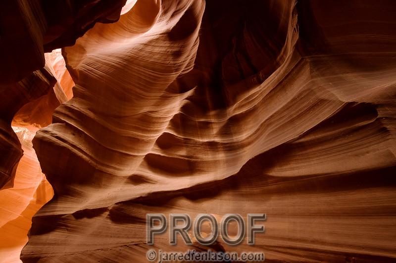 Nature's Art at Antelope Slot Canyons