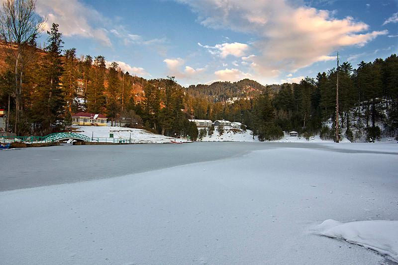 "The frozen lake of Benjosa, Azad Kashmir ""Pakistan."