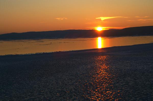 Winter Sunset at Sandpoint