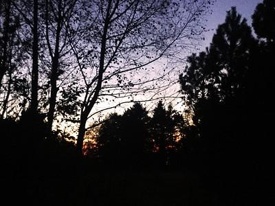 A beautiful autumn evening at Lundsneset.