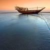 """Sunset over Sawadi beach, Barka """"Oman""""<br /> <br /> غروب الشمس على شاطئ السوادي - بركاء"""