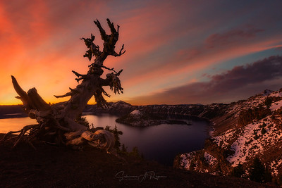 Sunrise over Crater Lake,