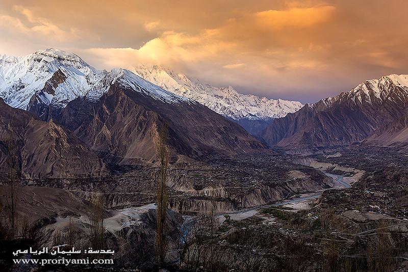 Hunza valley from Duiker; Pakistan