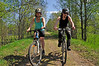 Two bikers at forest road in spring and thanks everbody for your kind words on my daily photos of today
