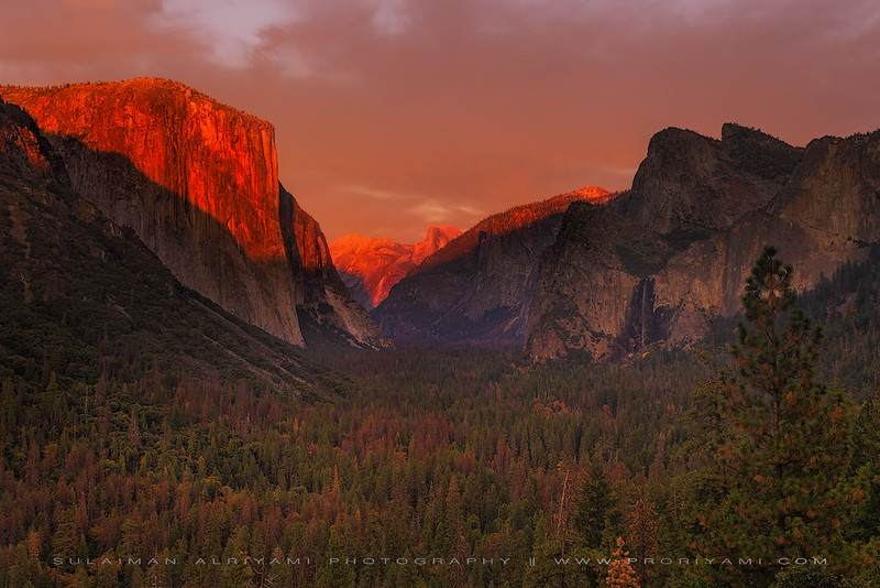 El Capitan during sunset