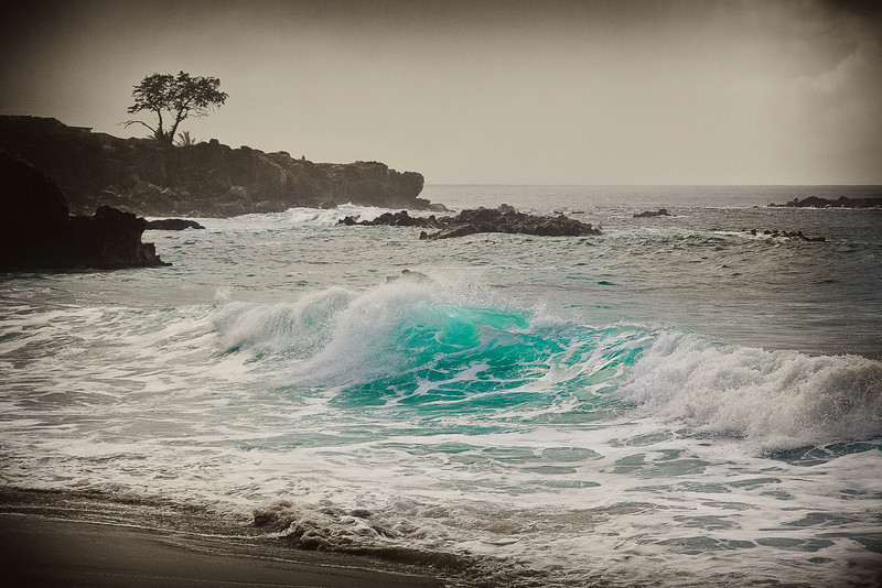 """Aqua - Vintage""  - North Shore - Oahu, Hawaii."