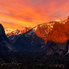 Yosemite at sunset