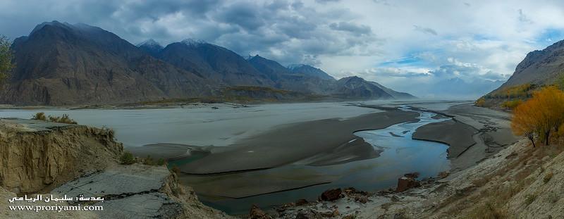 "Indus River at Skardu ""Pakistan""."