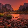 Morning glow on Yosemite valley