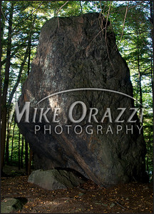 So this big stone is never well lit out in nature, so I nuked it with the SB800 at full power from the left, held by my wife and set off with the CyberSync.