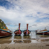"Traditional long tail boats, Krabi ""Thailand."