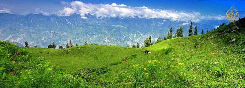 """Panoramic view of Shogran, Kaghan valley """"Pakistan"""""""