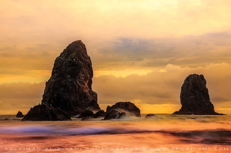 Oregon coast Cannon beach , USA