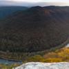 Sunrise in New River Gorge, West Virginia